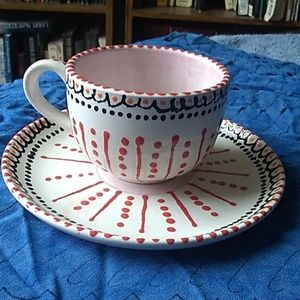 Festive cup and saucer